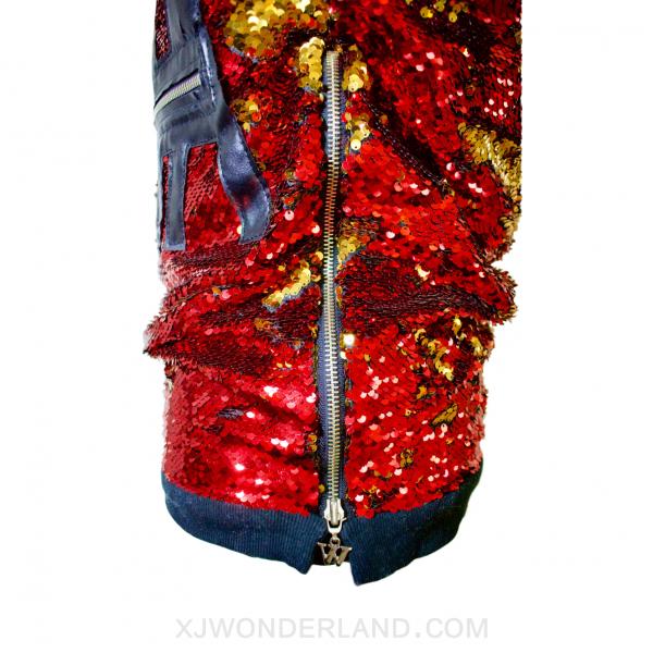 Reversible Sequin Sweater Zipper